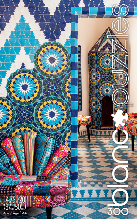 blanc Moroccan Tiles 300 Piece Jigsaw Puzzle Front
