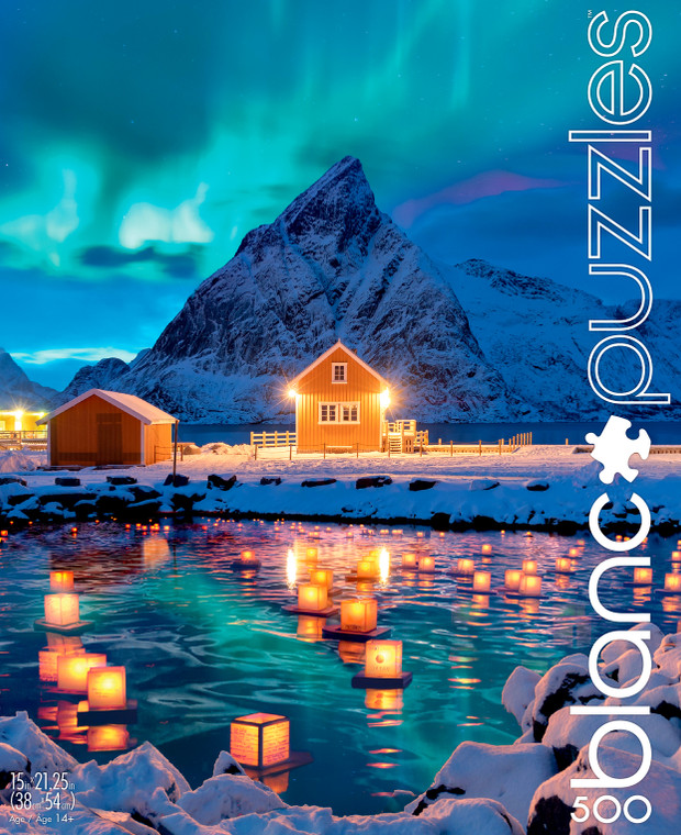 blanc Northern Lights 500 Piece Jigsaw Puzzle Front