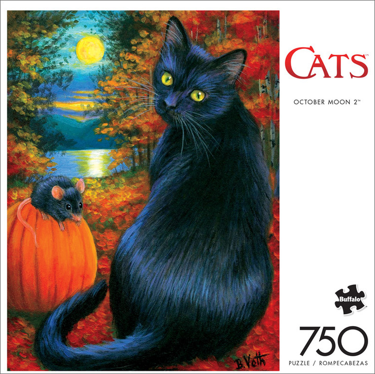 Cats October Moon 2 750 Piece Jigsaw Puzzle Front
