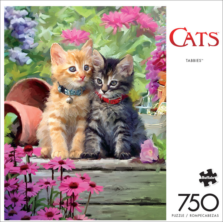 Cats Tabbies 750 Piece Jigsaw Puzzle Front