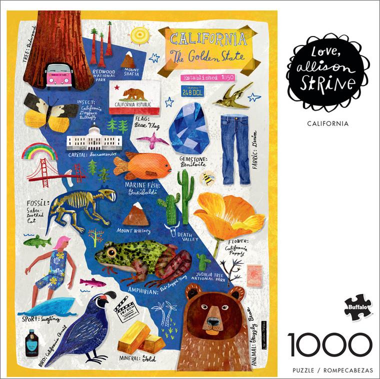 Allison Strine California 1000 Piece Jigsaw Puzzle Front