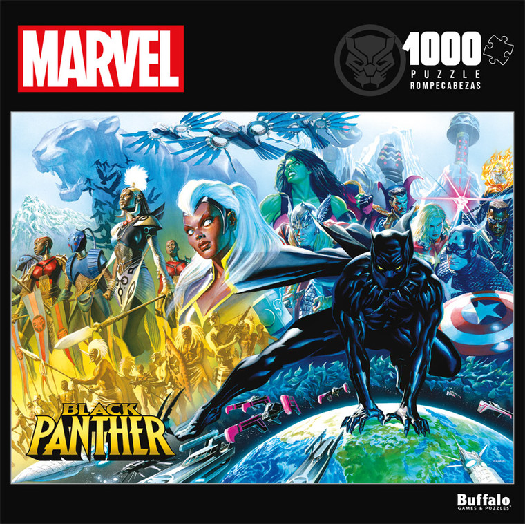Marvel Black Panther #1 1000 Piece Jigsaw Puzzle Front