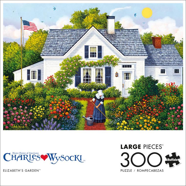 Charles Wysocki Elizabeth's Garden 300 Large Piece Jigsaw Puzzle Front