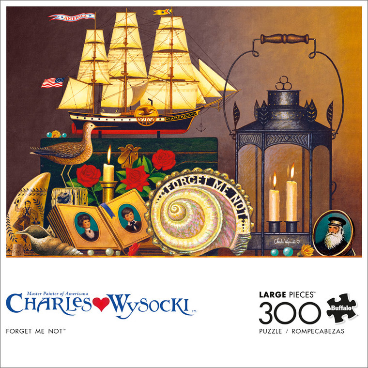 Charles Wysocki Forget Me Not 300 Large Piece Jigsaw Puzzle Front