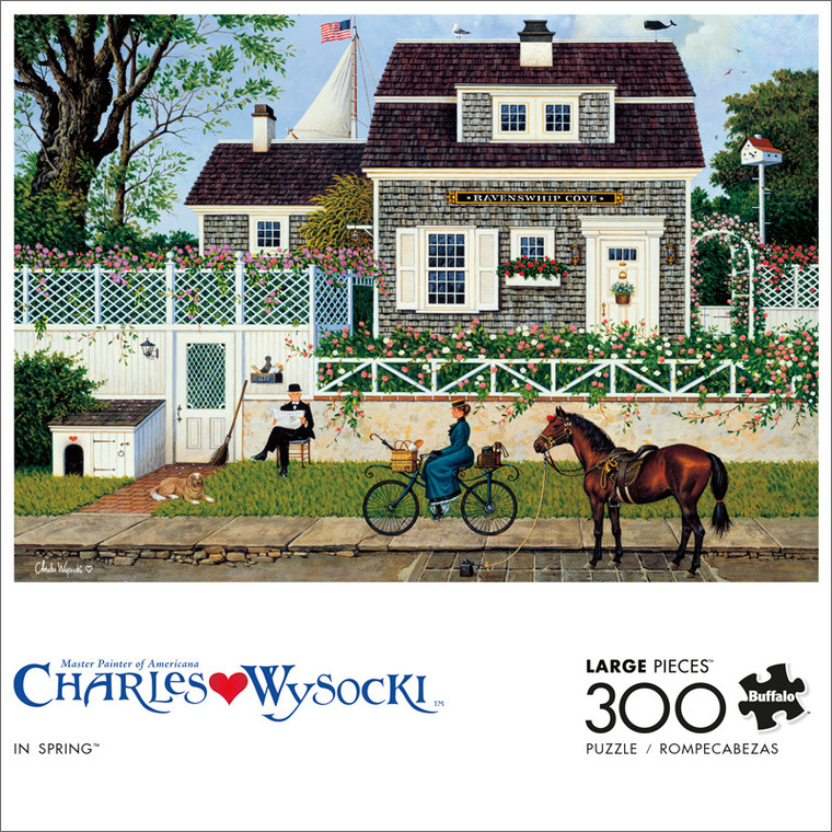 Charles Wysocki In Spring 300 Large Piece Jigsaw Puzzle Front