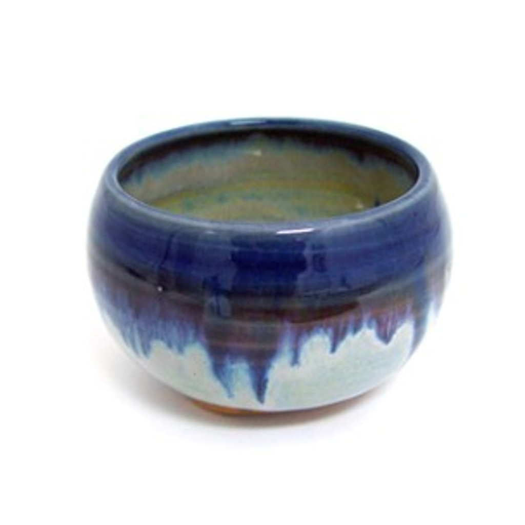 Incense Bowl - Blue Rim