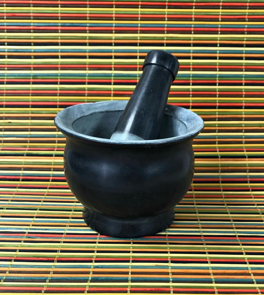 Mortar & Pestle  - Black Soapstone