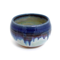 Incense Bowl - Blue Rim