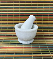 Mortar & Pestle - White Marble (small)