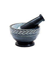 Mortar & Pestle - Black Soapstone