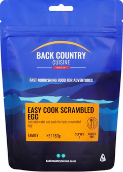 Back Country Cuisine - Easy Cook Scrambled Egg - Serves 2 - Dry Weight: 160 g