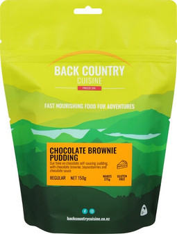 Back Country Cuisine - Chocolate Brownie Pudding - Serves 2 - Dry Weight: 150 g