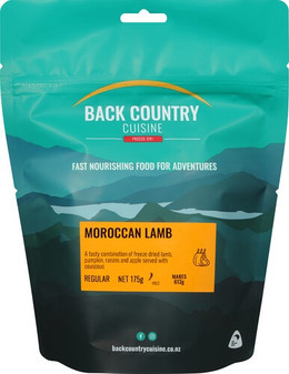 Back Country Cuisine - Moroccan Lamb - Serves 2 - Dry Weight: 175 g