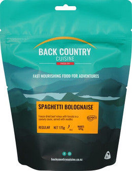 Back Country Cuisine - Spaghetti Bolognaise - Serves 2 - Dry Weight: 175 g