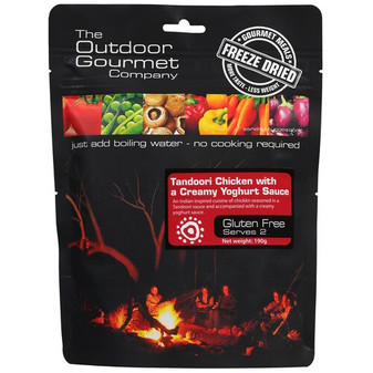 Outdoor Gourmet Company - Tandoori Chicken - Serves 2 - Dry Weight: 190 g