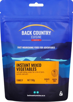 Back Country Cusine - Instant Mixed Vegetables - Dry Weight: 90g