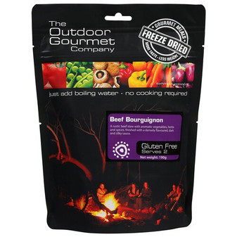 Outdoor Gourmet Company - Beef Bourguignon - Serves 2 - Dry Weight: 190 g
