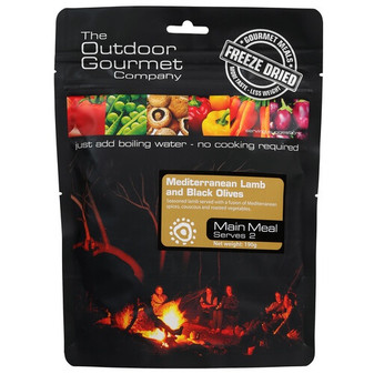 Outdoor Gourmet Company - Mediterranean Lamb - Serves 2 - Dry Weight: 190 g