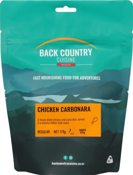 Back Country Cuisine - Chicken Carbonara - Serves 2 - Dry Weight: 175 g