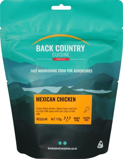 Back Country Cuisine - Mexican Chicken - Serves 2 - Dry Weight: 175 g