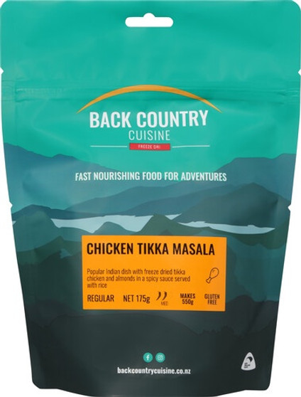 Back Country Cuisine - Chicken Tikka Masala - Serves 2 - Dry Weight: 175 g