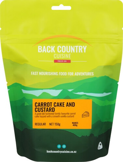 Back Country Cuisine - Carrot Cake & Custard - Serves 2 - Dry Weight: 150 g