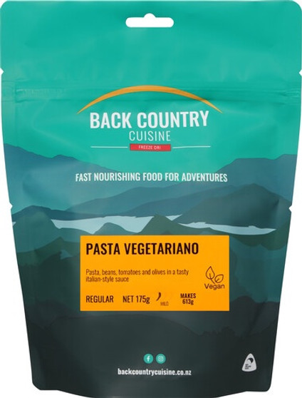 Back Country Cuisine - Pasta Vegetariano - Serves 2 - Dry Weight: 175 g