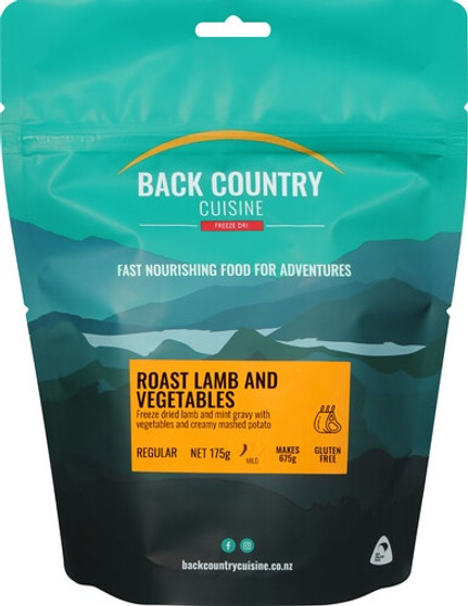 Back Country Cuisine - Roast Beef & Vegetables - Serves 2 - Dry Weight: 175 g