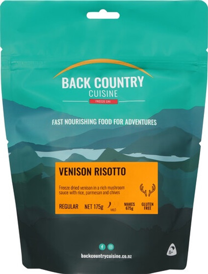 Back Country Cuisine - Venison Risotto - Serves 2 - Dry Weight: 175 g