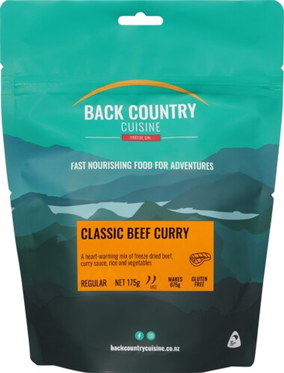 Back Country Cuisine - Classic Beef Curry - Serves 2 - Dry Weight: 175 g