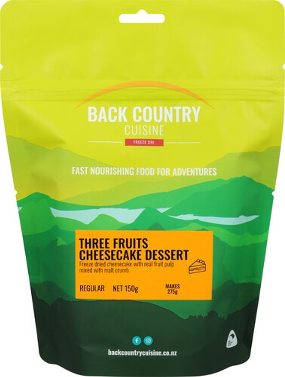 Back Country Cuisine - Three Fruit Cheesecake - Serves 2 - Dry Weight: 150 g
