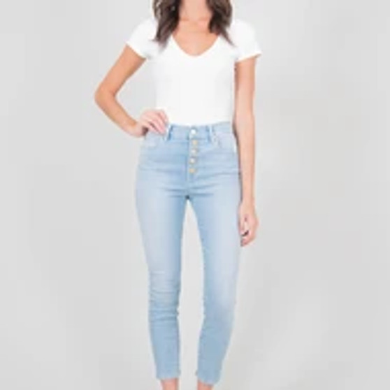 Behave Button Fly Jeans
