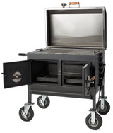 Pitts & Spitts Flattop Adjustable Charcoal Grill