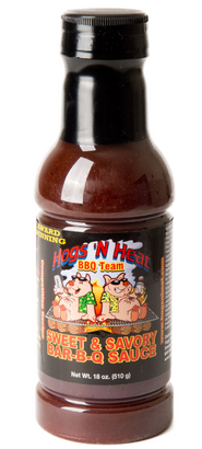 Hogs 'N Heat Sweet and Savory Sauce - 18 oz