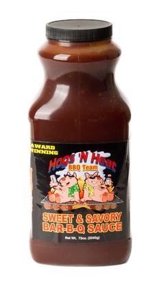 Hogs 'N Heat Sweet and Savory Sauce - 72 oz