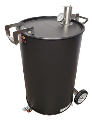 Hunsaker Vortex 55 Gallon Drum Smoker - Flat Black