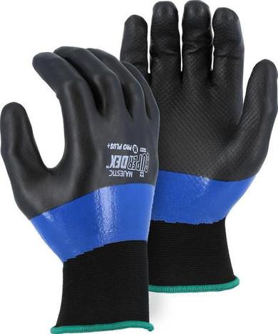 Black & Blue Nitrile over Nylon Gloves