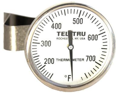 """Tel-Tru LT225R Ceramic Grill Thermometer - 5"""" Stem"""