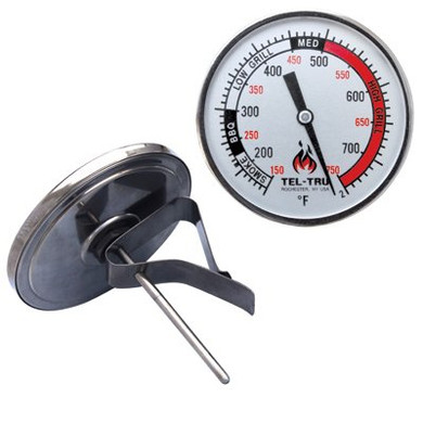 """Tel-Tru BQ325R Grill Thermometer - 3"""" Stem"""