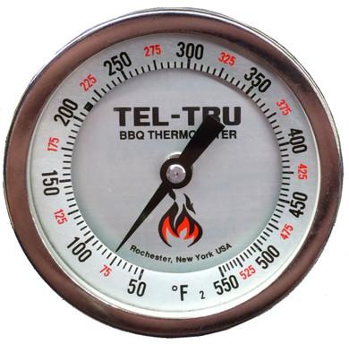 "Tel-Tru BQ300R Calibratable Thermometer - 2.5"" Stem"