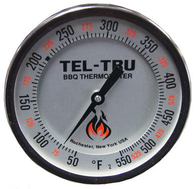 """Tel-Tru BQ500R Calibratable Grill Thermometer - 2.5"""""""