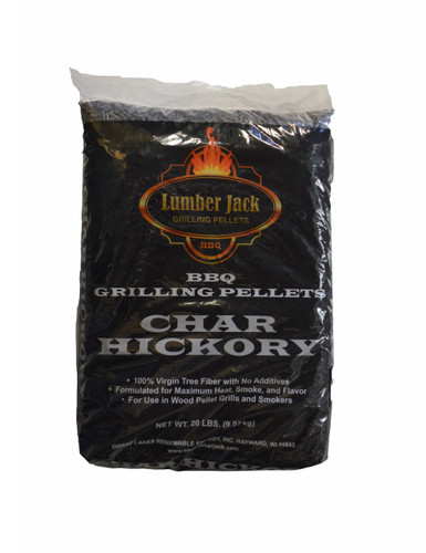 Lumber Jack Char Hickory Pellets - 20 lb