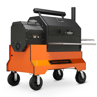 Yoder YS640s Competition Pellet Grill Orange