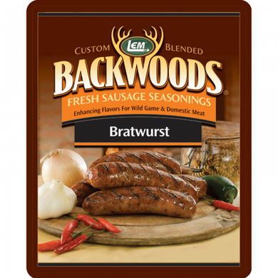 LEM Products Backwoods Sausage Seasoning BRATWURST (Makes 5lb)