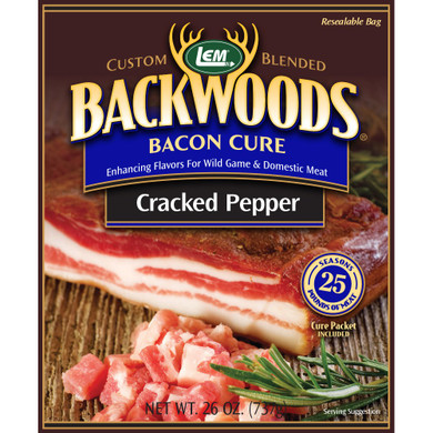 LEM Products Bacon Cure Cracked Pepper (Makes 25 lb)