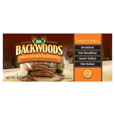 LEM Products Backwoods Fresh Sausage Variety Pack