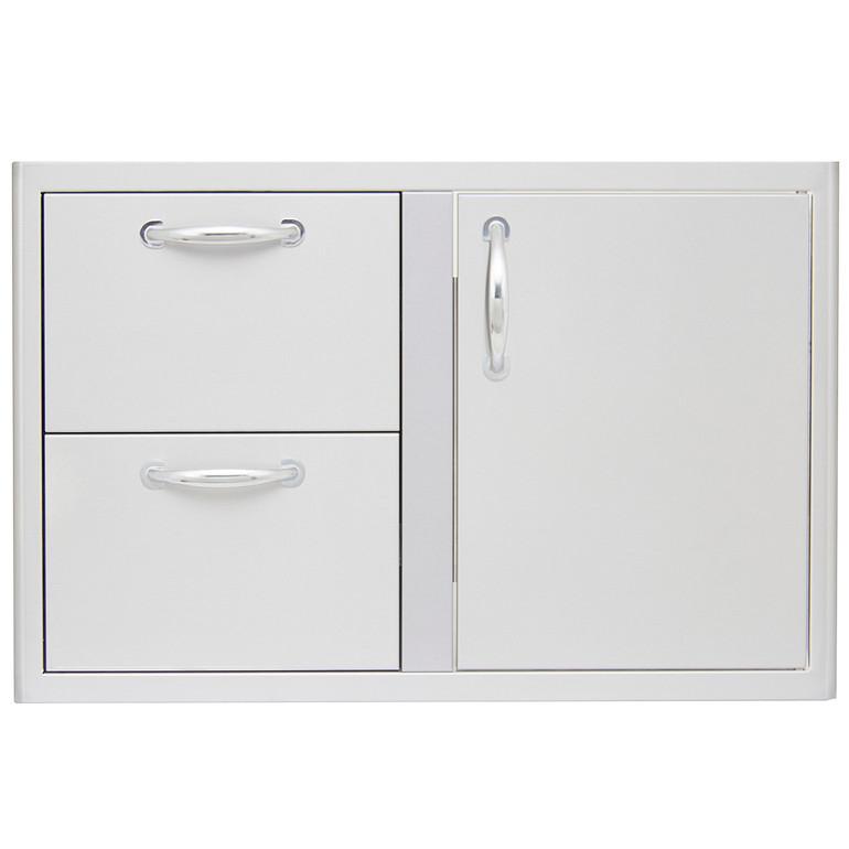 Blaze 32-Inch Access Door & Stainless Steel Double Drawer Combo