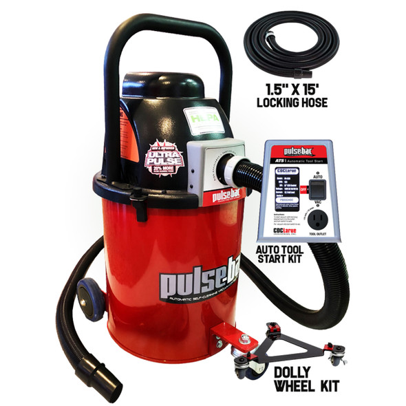 Pulse-Bac 576 Industrial Vac Inc. Hose, Wheel Kit & ATS