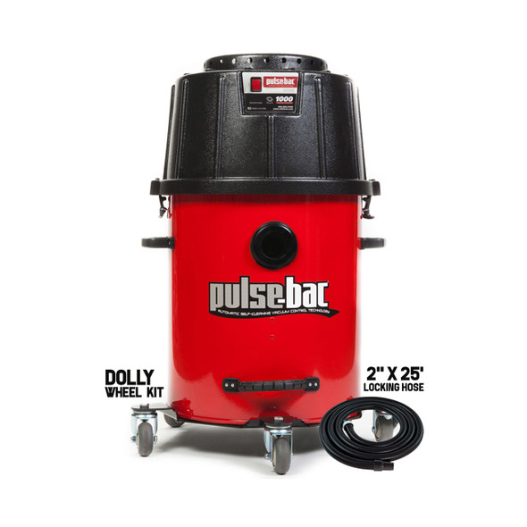 Pulse-Bac Pro 176 Vac Incl. 20Gal Tank, Hose & Wheel Kit