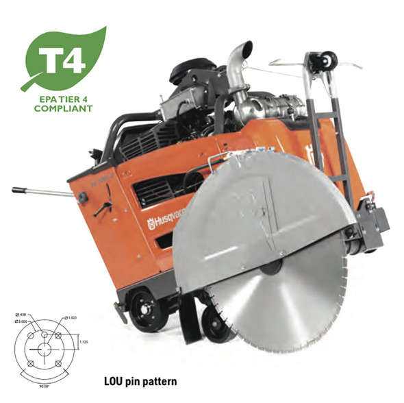 FS 7000 D 1-Speed (E-Track and/or Blade Clutch) Concrete Flat Saw